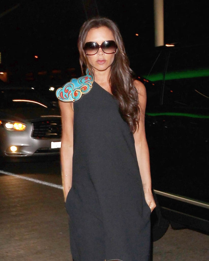 For a Night Out —to Shield Herself From the Paparazzi Lights