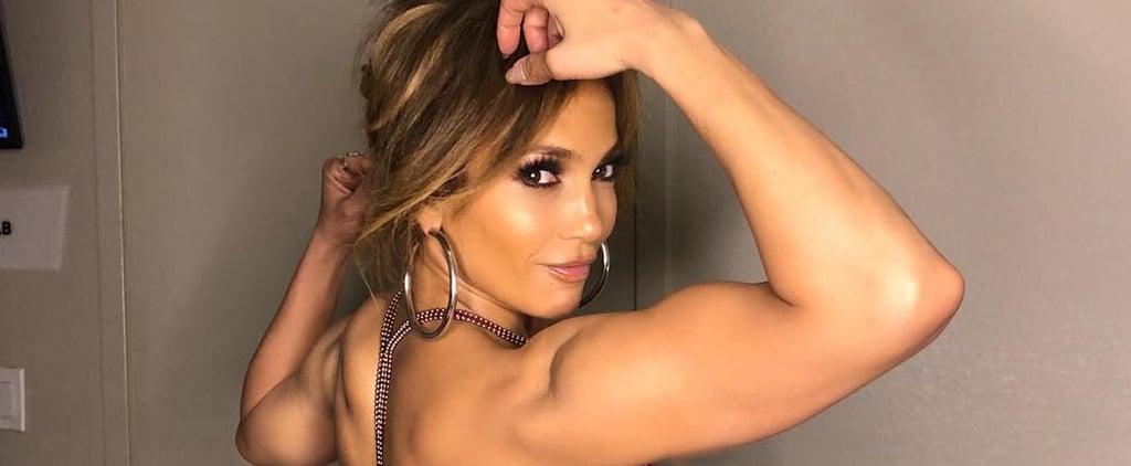 Jennifer Lopez Flexing Arm Muscles on Instagram