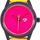 Harajuku Lovers Unisex Solar Emoji Pizza Time Strap Watch 40mm HL2310 ($50)