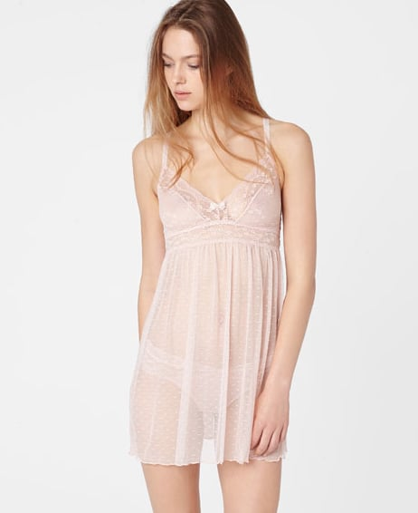 6523e6c515b86 Oysho Night Dress With Lace Band | 50 Shades of Lingerie to Spice Up ...