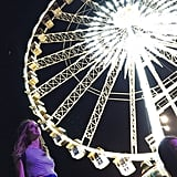 Chiara Ferragni Caught the Light Under the Ferris Wheel