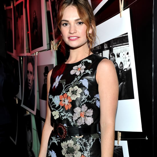 Lily James in Alexander McQueen at W Magazine Party