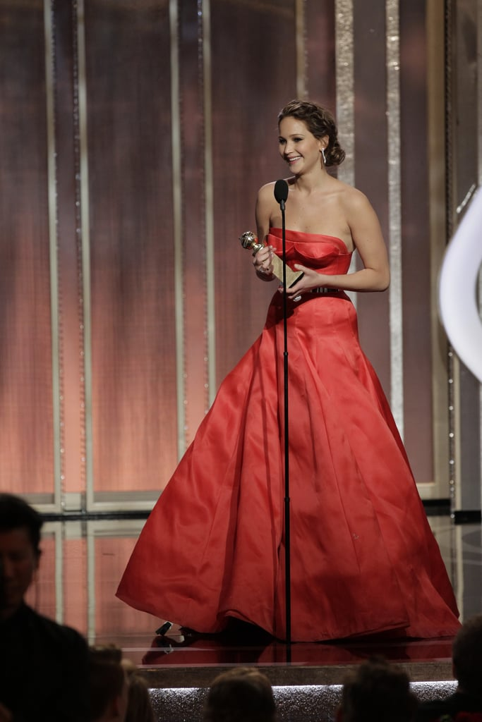 "Jennifer Lawrence said, ""I beat Meryl"" while accepting her award for best actress in a motion picture, comedy or musical."