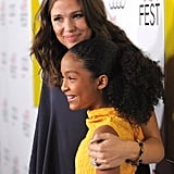 Jennifer Garner rested her head on Yara Shahidi's.