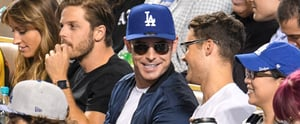 Zac Efron Catches a Dodgers Game After Surprising Simone Biles at the Olympics