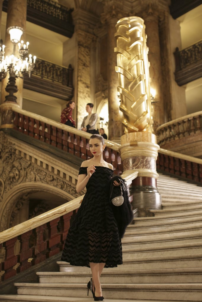 Emily's Off-the-Shoulder Black Dress