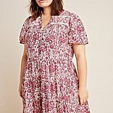 Anthropologie Georgina Tiered Shirtdress