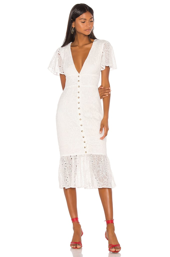 Song of Style Mylan Midi Dress in White from Revolve.com