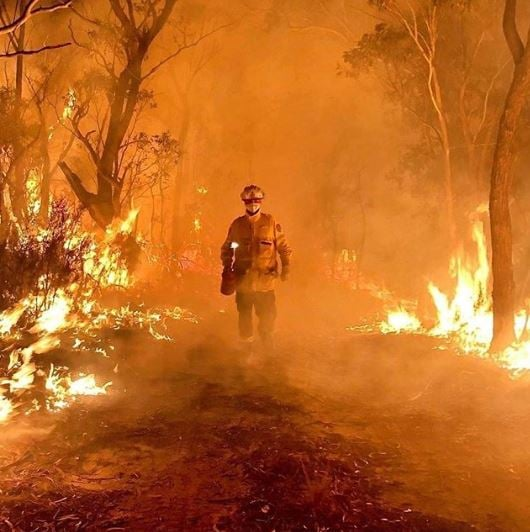 Image result for viral photos of australian bushfires