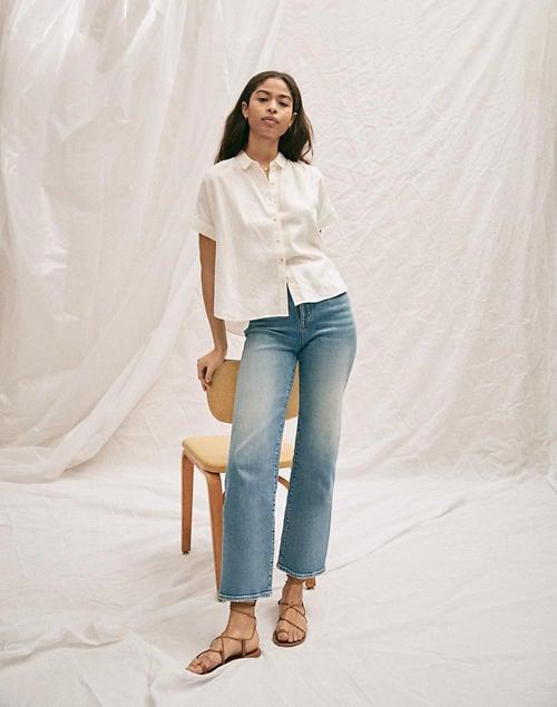 Slim Wide-Leg Crop Jeans