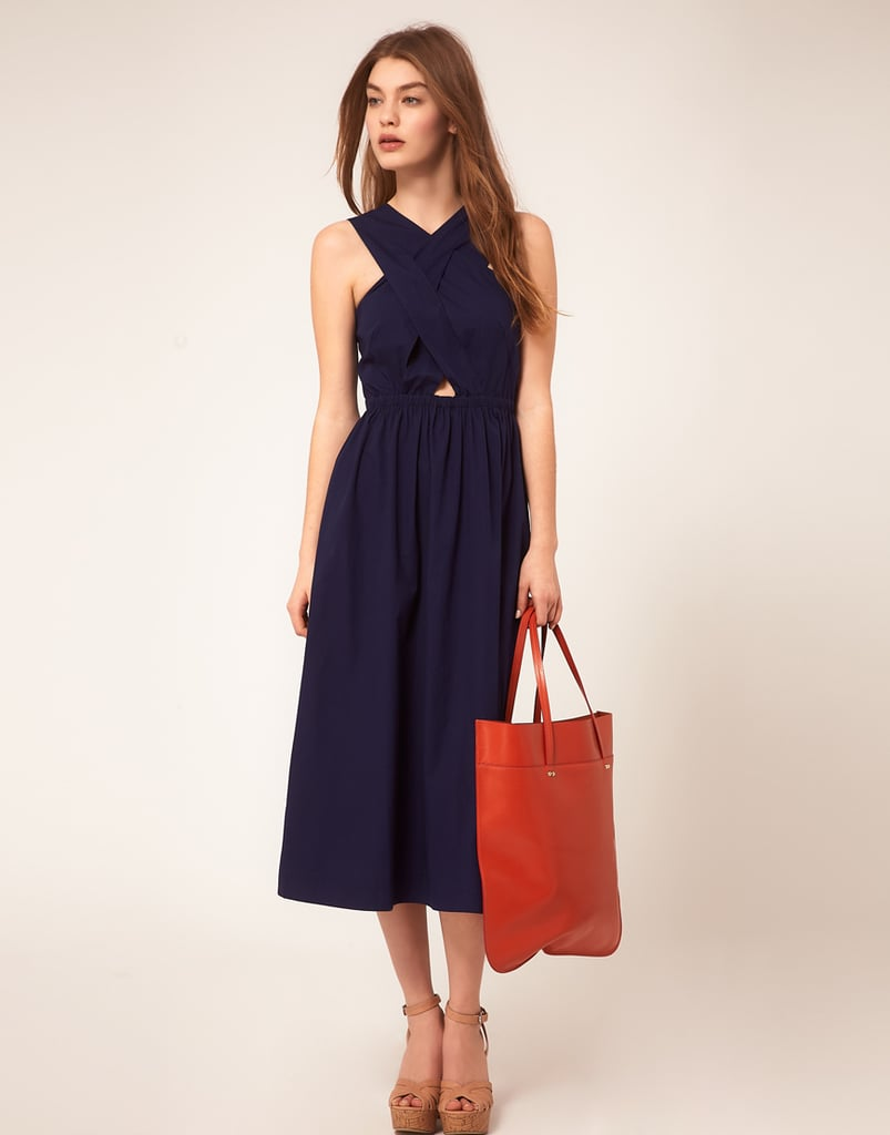 My trip to Paris next month has me preoccupied with pretty day dresses like this one from ASOS ($53). I imagine strolling the Champs-Élysées with (pastry in hand) a straw fedora and a red lip to offset the navy hue of my chic little sundress.  — Hannah Weil, associate editor