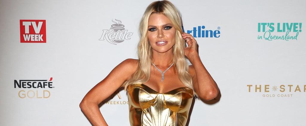 Sophie Monk Logies 2019 Gold Dress