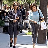 Jessica Alba Shares Some Lunch and Laughs With a Friend