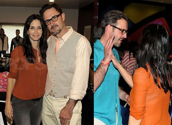 Separated David Arquette and Courteney Cox Reunite at Rock & EBowl Charity Event
