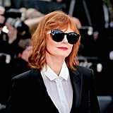 Susan Sarandon Was All About the Shade in Her Dark Sunglasses
