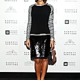 Margherita Missoni brought a little bit of sparkle to her evening attire at the Barneys cocktail party via a shimmery black skirt.