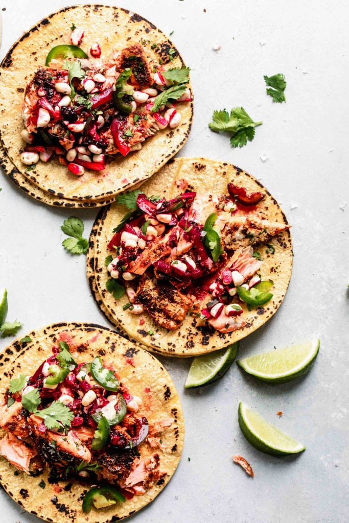 Salmon Tacos With Blackberry Corn Relish
