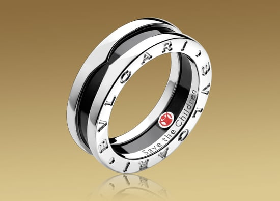 Bulgari SAVE THE CHILDREN ring in sterling silver with black ceramic $370