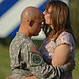 Sgt. Joshua Hanafin gets a kiss from wife Elizabeth on May 4, 2008, in Fort Stewart, GA.