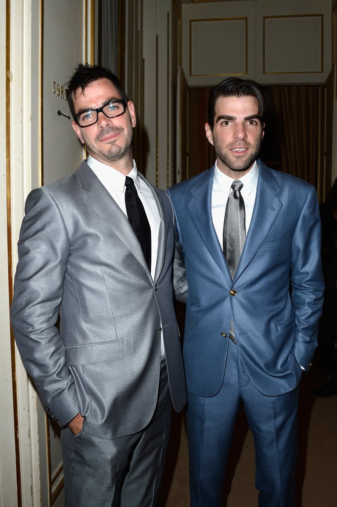 Zachary Quinto and his brother, Joe Quinto, attended Versace's Paris Haute Couture show on Sunday.