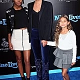 Rachel Roy and Daughters at Nine Lives Premiere Pictures