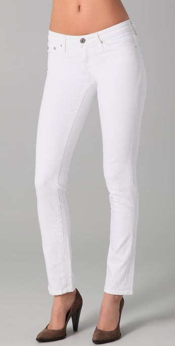AG Adriano Goldschmied Stilt Cigarette Jeans in White ($164)