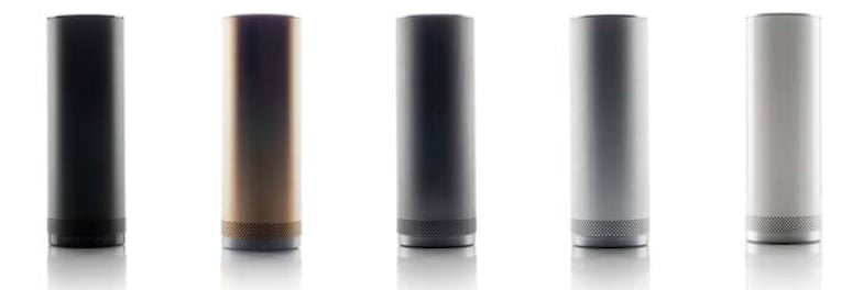 The speakers will be avilable in matte black, gold, pewter, brushed aluminum, and high-gloss white.