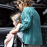Sarah Jessica Parker's daughter Loretta Broderick wore pigtails.