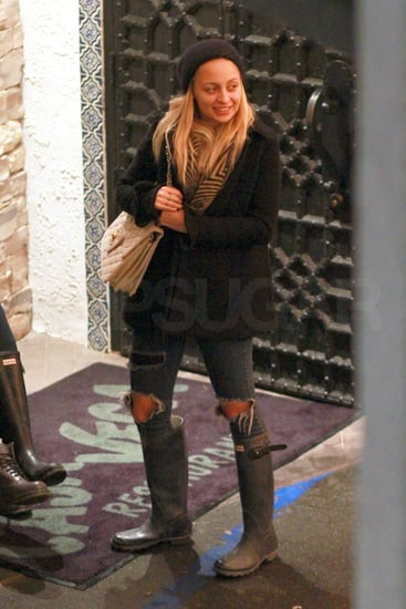 Pictures of Just Married Nicole Richie Smiling in LA