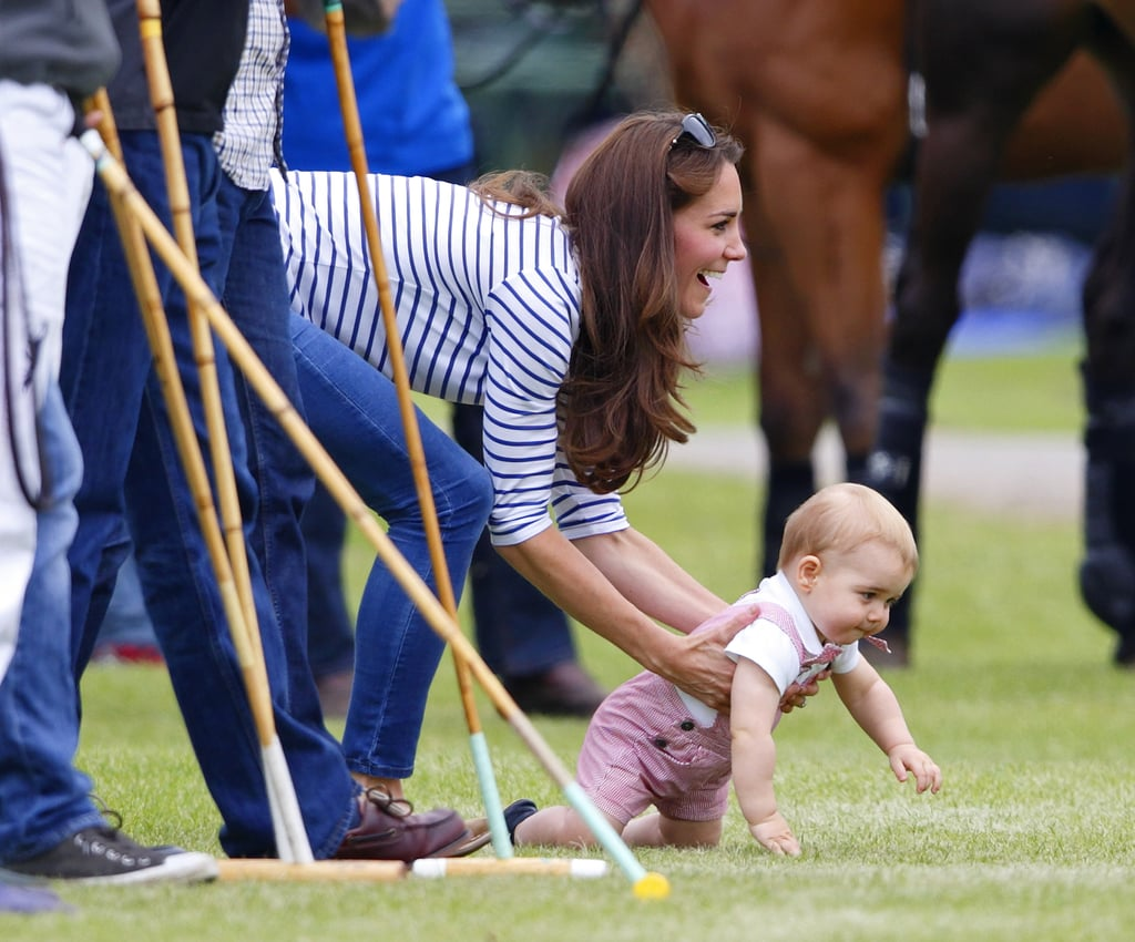 When He Crawled at His Dad's Charity Polo Match