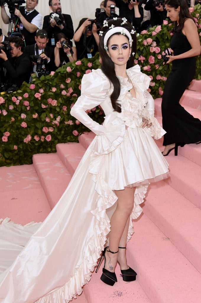 Lily Collins at the 2019 Met Gala