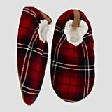 Plaid Polar Fleece Slipper Socks