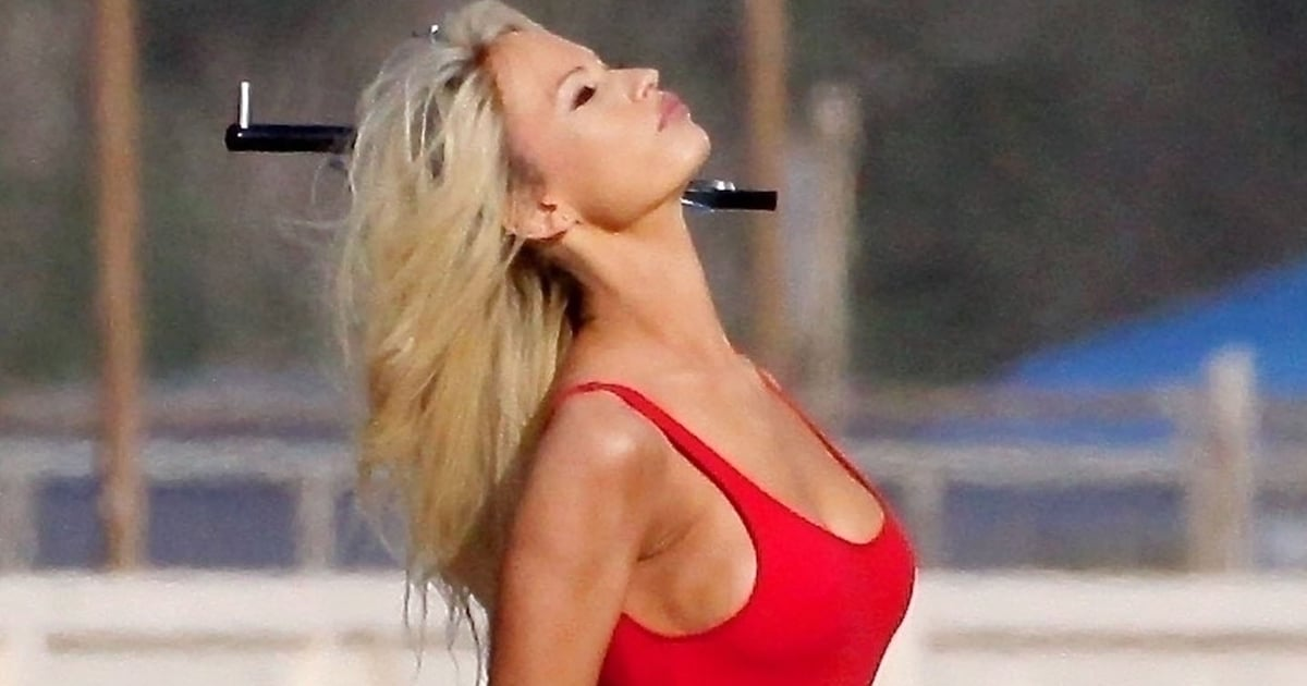 Lily James Brings Back Baywatch as Pamela Anderson in New Pam and Tommy Set Photos
