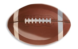 Football Shaped Reusable Plastic Serving Tray