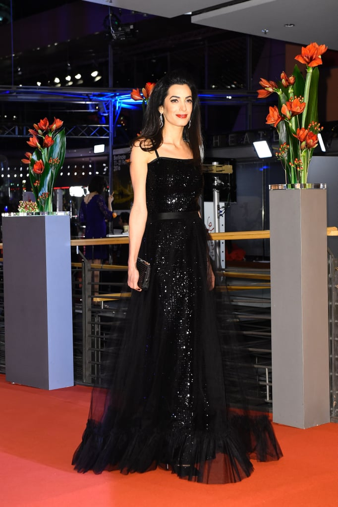 Amal Clooney S Black Gown At Hail Caesar Germany