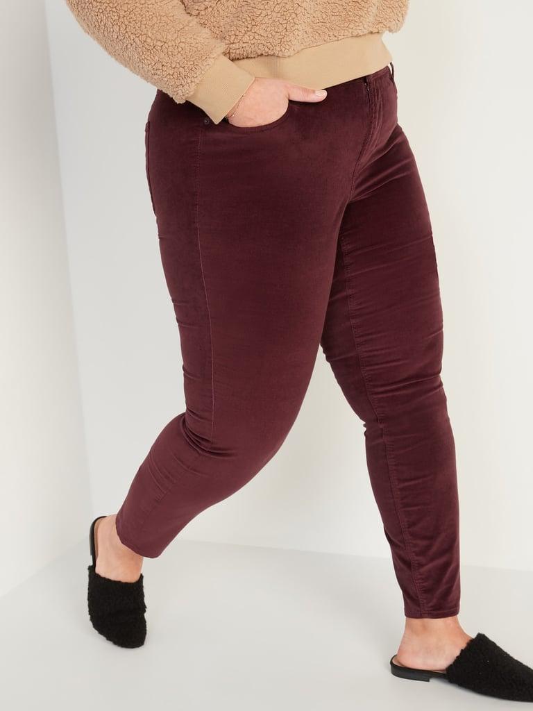 High-Waisted Secret-Slim Pockets Velvet Rockstar Super Skinny Jeans