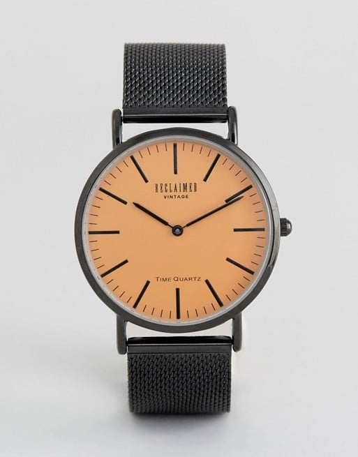 The orange dial on the Reclaimed Vintage Inspired Black Watch ($48) gives it extra appeal.