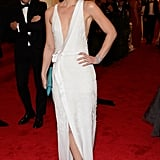 Claire Danes wore a beautiful J. Mendel.