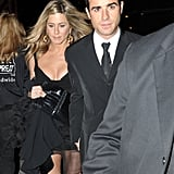 Jennifer and Justin held hands after the event.