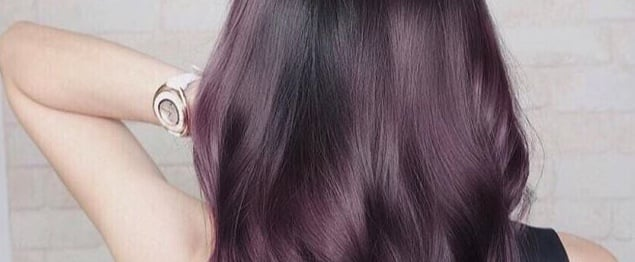 Aubergine Hair Colour Trend