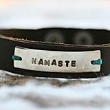 Namaste Leather Bracelet
