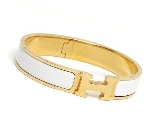 White Enamel Hermes Bracelet ($570)