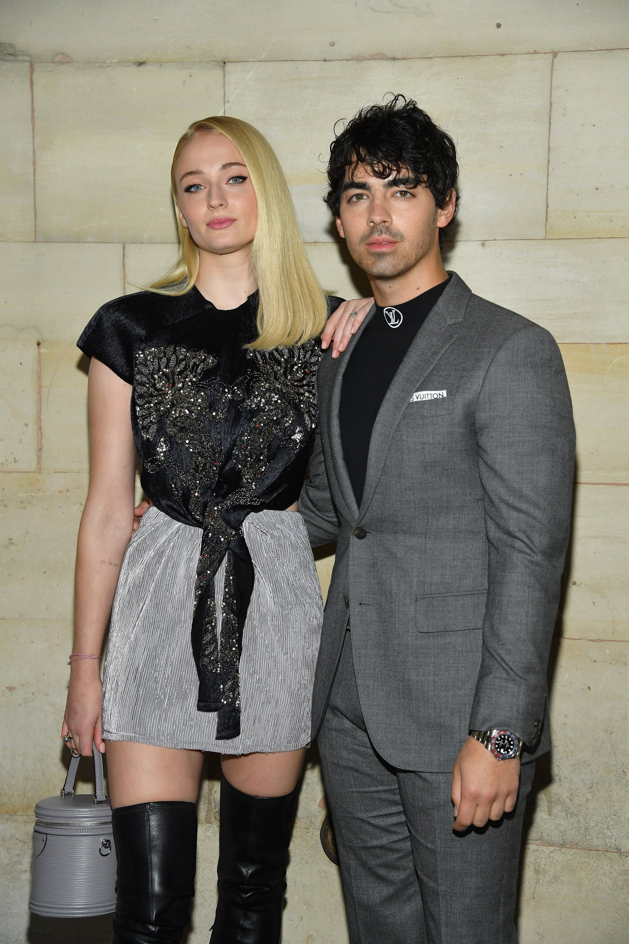 PARIS, FRANCE - OCTOBER 02:  Sophie Turner and  Joe Jonas attend the Louis Vuitton show as part of the Paris Fashion Week Womenswear Spring/Summer 2019 on October 2, 2018 in Paris, France.  (Photo by Pascal Le Segretain/Getty Images)