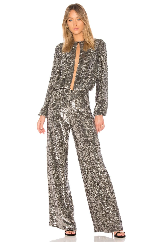 Alexis Silver alexis x revolve zeda jumpsuit in silver sequin | sandra