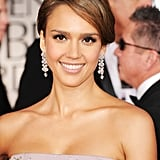 Jessica Alba at the Golden Globes.