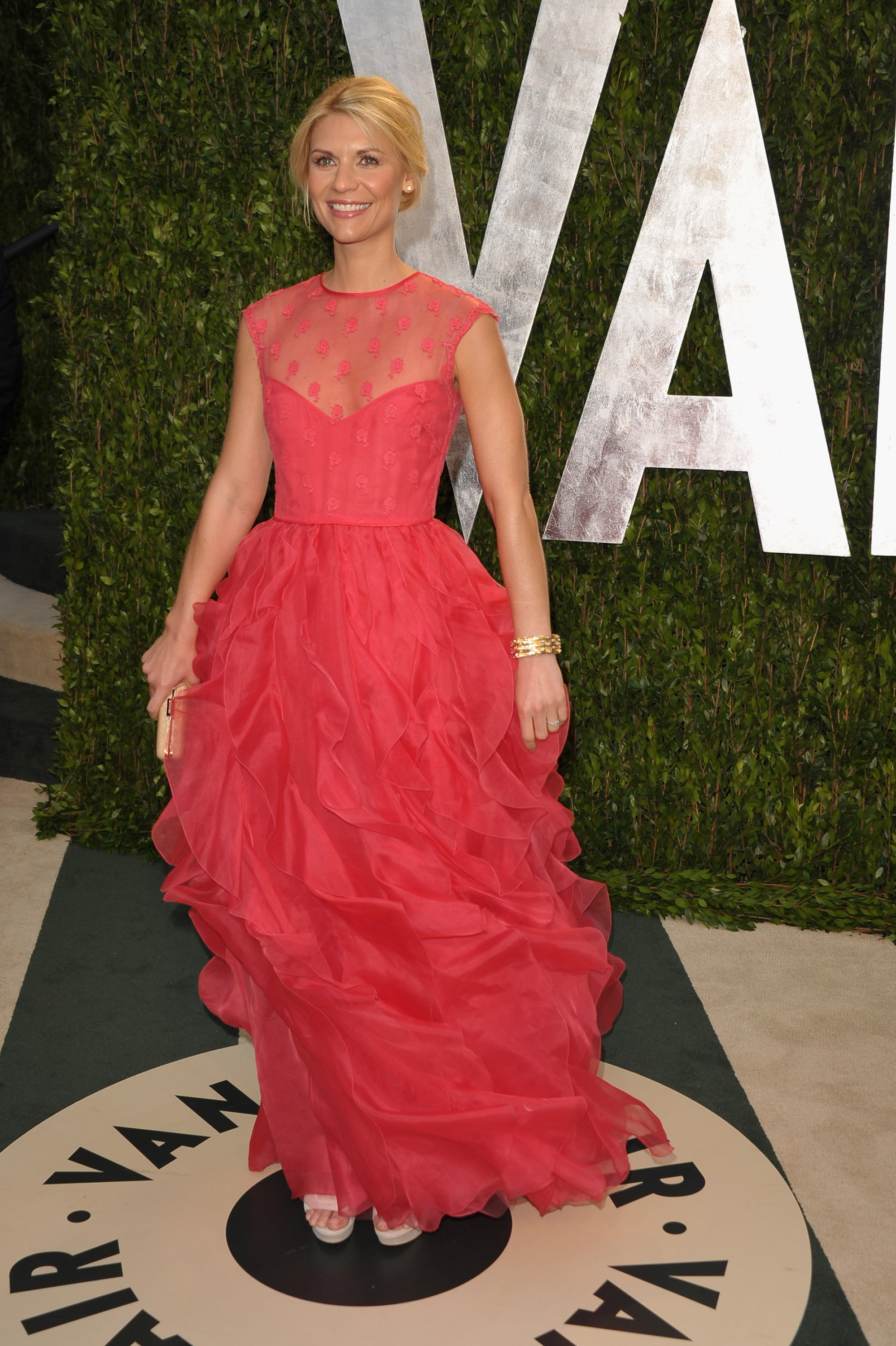 Claire Danes in a Valentino gown.
