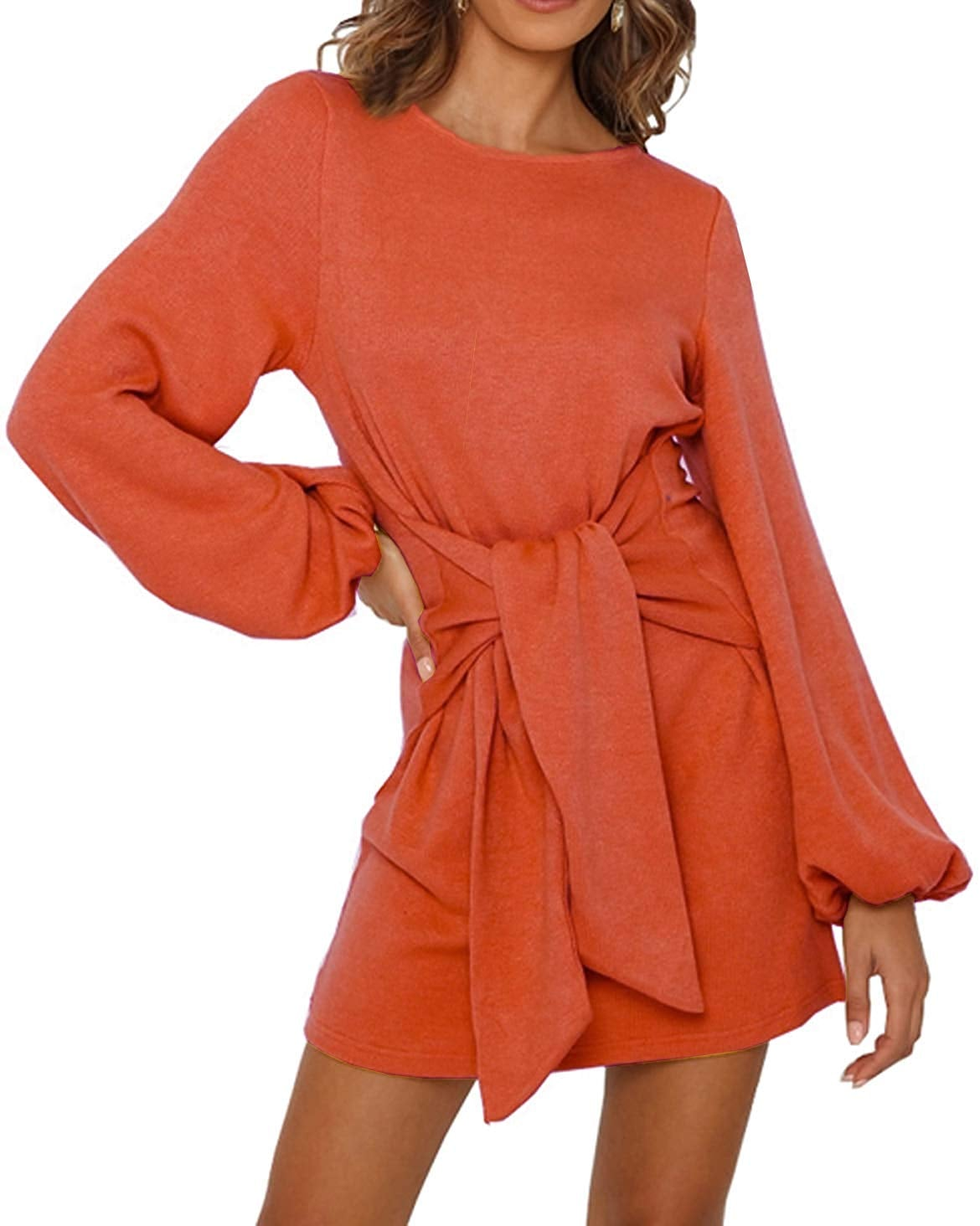 R Vivimos Knitted Tie Waist Sweater Dress These 26 Dresses From Amazon Fashion Are Versatile Flattering And All Under 50 Popsugar Fashion Photo 4