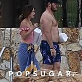 Chris Pratt and Katherine Schwarzenegger in Cabo Jan. 2019