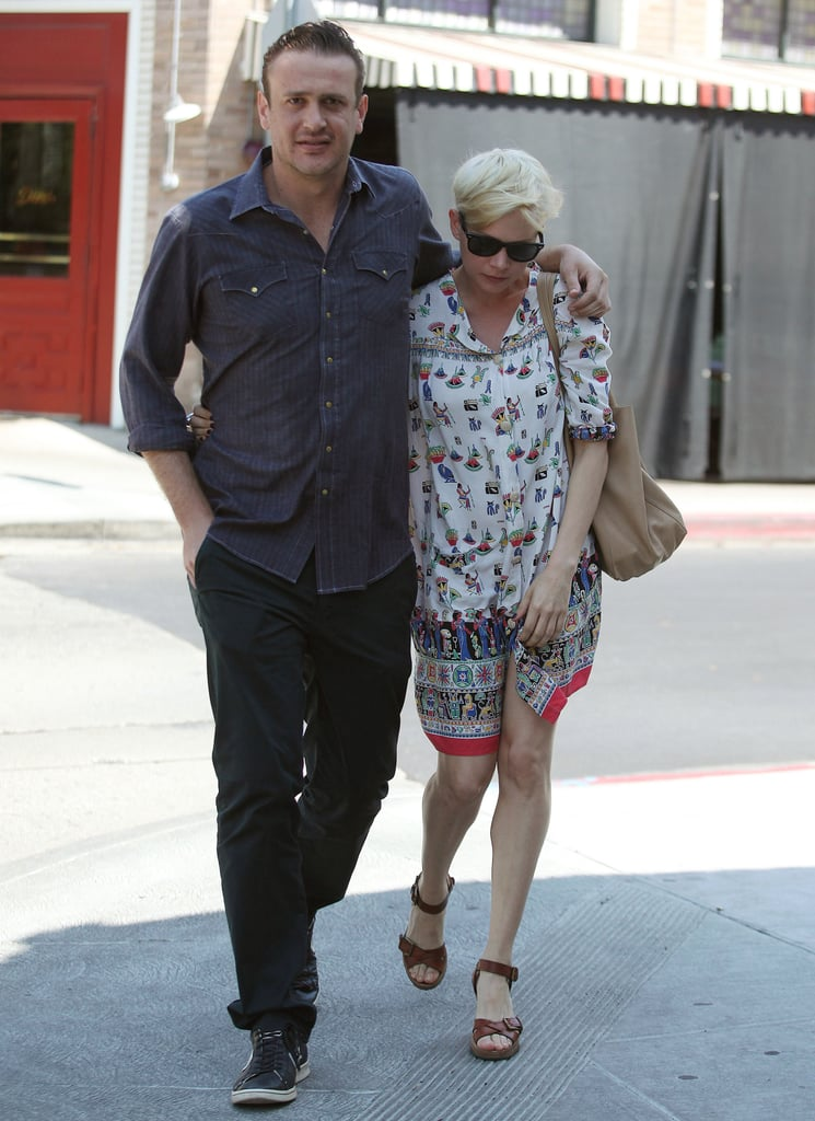 Jason Segel and Michelle Williams Eat at Little Dom's