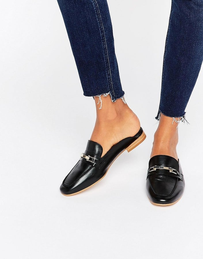 Faith Backless Leather Loafers ($105)
